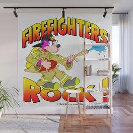 Firefighters Rock Merchandise Wall Mural