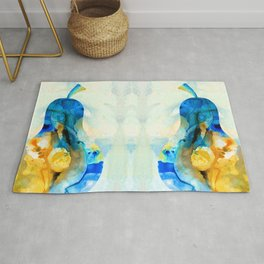 A Nice Pear - Abstract Art By Sharon Cummings Rug