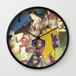 Draw of the Hare - Japanese Art Wall Clock