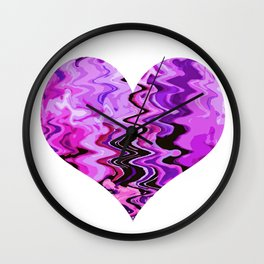 wind heart violet Wall Clock