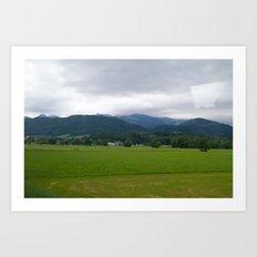 Plains. Art Print