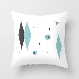 Vintage 1950s Mid Century Modern Design Throw Pillow