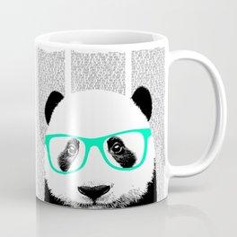 Panda with teal glasses Coffee Mug