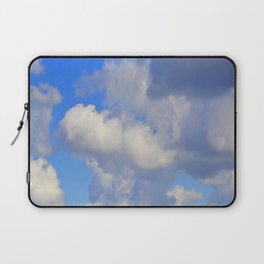 White Puffs in the Sky Laptop Sleeve