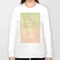 serenity Long Sleeve T-shirts featuring Serenity by Cullen Rawlins