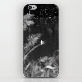 black and white country pond iPhone Skin
