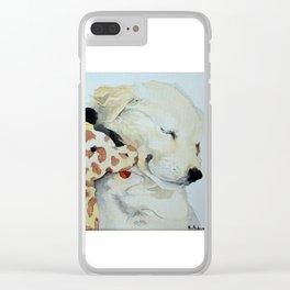 Puppy snuggles Clear iPhone Case