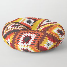 Colorful patchwork mosaic, oriental kilim rug Floor Pillow