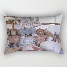 Shiva lingams  with Ganesh Rectangular Pillow
