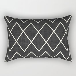 Avoca in Black and White Rectangular Pillow
