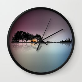 Guitar Island Wall Clock