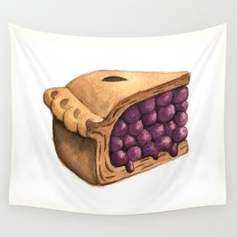 Blueberry Pie Slice Wall Tapestry