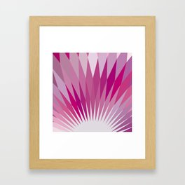 Geometrical Pink Stardust Framed Art Print