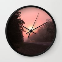 matty healy Wall Clocks featuring A perfect spot for a break in the journey by Donuts