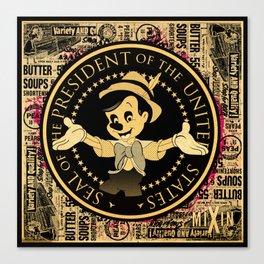 The Presidential Pinocchio Canvas Print