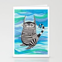 rubyetc Stationery Cards featuring stripy fella by rubyetc