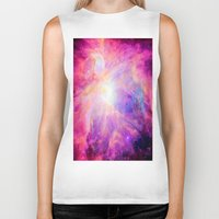 nebula Biker Tanks featuring Pink Purple Orion NebulA by 2sweet4words Designs