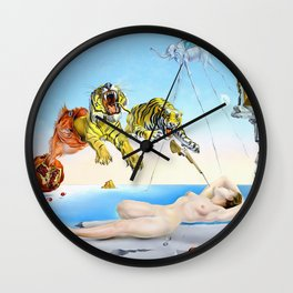 Salvador Dalí, Dream Caused by the Flight of a Bee Around a Pomegranate a Second Before Awakening 1944 Wall Clock