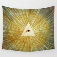 illuminati Wall Tapestries featuring God's Eye by Palazzo Art Gallery