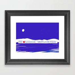 We Love Leadville Framed Art Print
