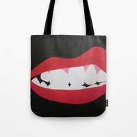 rocky horror Tote Bags featuring Rocky Horror by kaylinicole