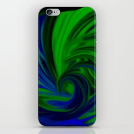 Blue and Green Wave iPhone Skin