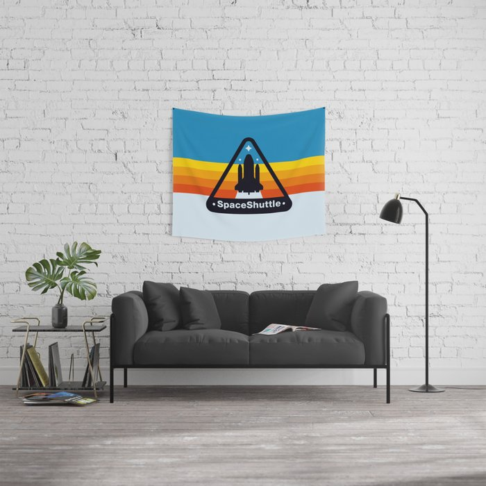 NASA Space Shuttle Badge Wall Tapestry
