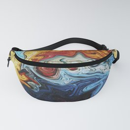 Night's Bright Colors - Color Liquid in Water Fanny Pack