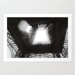 Eiffel Tower Multiple Exposures Art Print