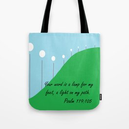 Your Word is a Lamp Tote Bag