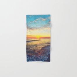 Summer Sunset Ocean Beach - Nature Photography Hand & Bath Towel