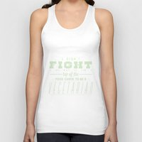 vegetarian Tank Tops featuring TO BE A VEGETARIAN by KLAM