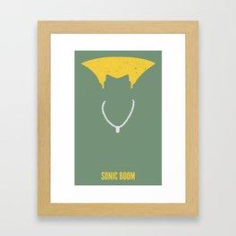 Guile - Sonic Boom Framed Art Print