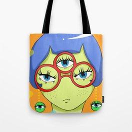 La femme à lunettes. Tote Bag