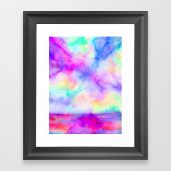 The Calm and The Storm Framed Art Print