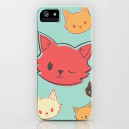 Kitty Wink iPhone Case
