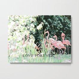 Flamingos Love Forever Flamingo Flamenco Tango Dance Metal Print