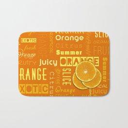 Orange Fruit Slices Summer Typography Bath Mat