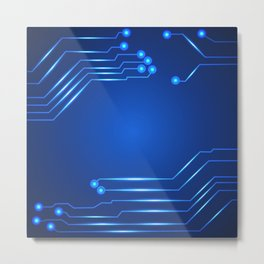 Hi tech circuit board. Metal Print