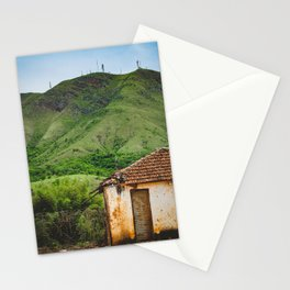 Lonely hovel in the mountains hills Stationery Cards