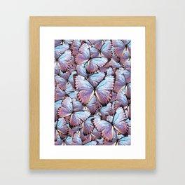 Iridescent Butterflies Framed Art Print