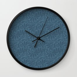 Abstract solid blue pattern . Wall Clock