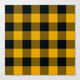 Yellow & Black Buffalo Plaid Canvas Print