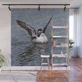 Razorbill spreading its wings Wall Mural
