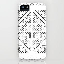 Tribal Hmong Design 2 iPhone Case