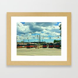 CrissCrossing Framed Art Print