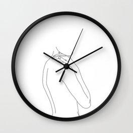 Nude woman illustration - Juliet Wall Clock