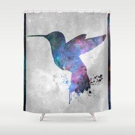 Galaxy Series (Hummingbird) Shower Curtain