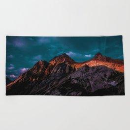 The Volcano Mountain (Color) Beach Towel