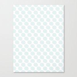 Soft Blue Dots Canvas Print
